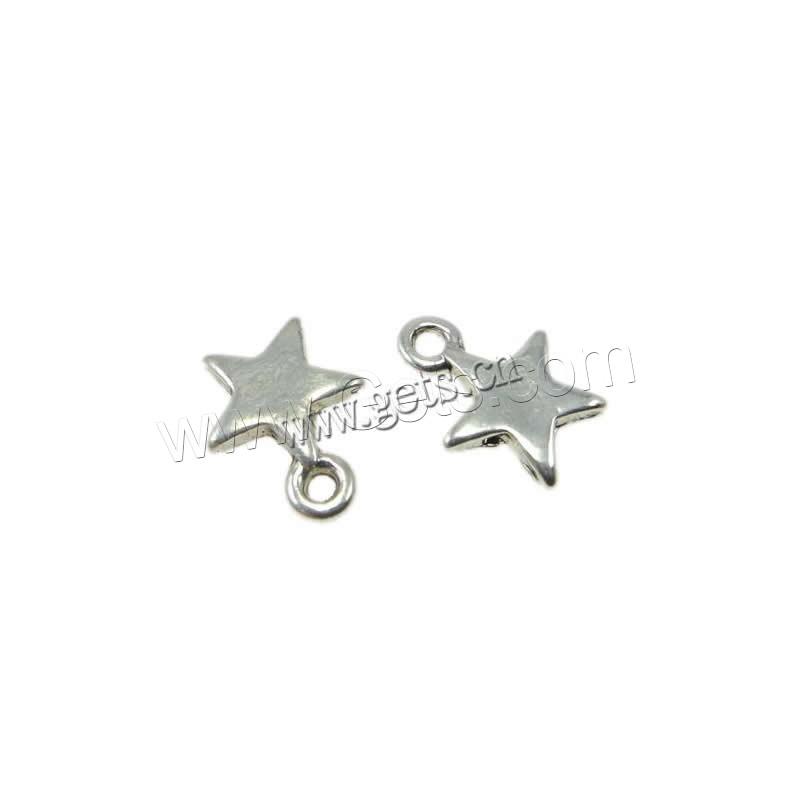 Zinc alloy star pendant silver color plated lead cadmium